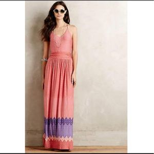 Anthropologie Nomad Pink Maxi Dress